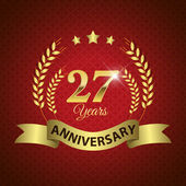 27 Years Anniversary Seal — Stock Vector