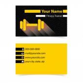Fitness trener wizytówkę — Wektor stockowy