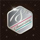 Classy anniversary emblem — Vettoriale Stock