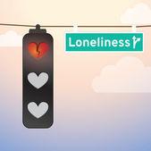 Красный любовь огни — Cтоковый вектор