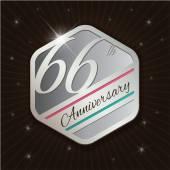 Classy anniversary emblem — Stockvector