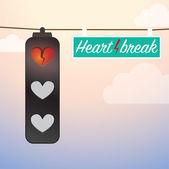 Heartbreak love lights — Stock Vector