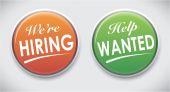 Pin button badges — Stock Vector