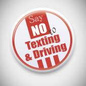 Say no to Texting and  Driving badge — Stock Vector