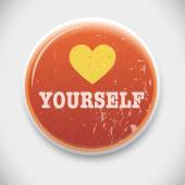 Love Yourself Badge — Stock Vector