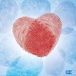 Fingerprints making Heart Symbol — Stock Vector #64050693