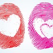Thumbprint with the heart Symbol — 图库矢量图片 #64050733
