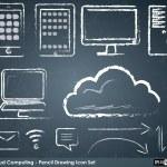 iconos de computación en la nube — Vector de stock  #64050837