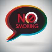 Speech bubble - NO SMOKING — Stock Vector