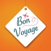 Bon Voyage sticker — Stock Vector