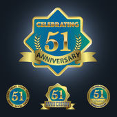 Celebrating 51 Years Anniversary — Stock Vector