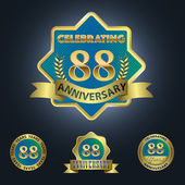 Celebrating 88 Years Anniversary — Stock Vector