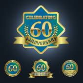 Celebrating 60 Years Anniversary — Stock Vector