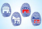 Republic Party and Democratic Party Symbol — Vector de stock