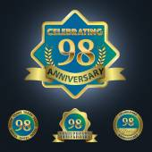 Celebrating 98 Years Anniversary — Stock Vector