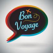 Bon Voyage - Speech Bubble — Stok Vektör
