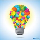 Colorful Innovation Light Bulb — Stock Vector