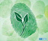 Ecology concept icon green leaves — 图库矢量图片