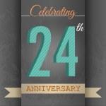 24th Anniversary poster , template design — Stock Vector #69245397