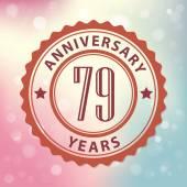 """""""79 Years Anniversary"""" — Stock Vector"""