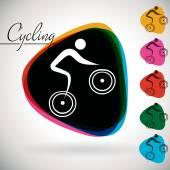 Sports Event icon, symbol - Cycling. — Stok Vektör