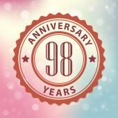 """""""98 Years Anniversary"""" — Stock Vector"""