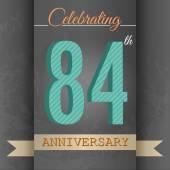 84th Anniversary poster ,template design — Stock Vector