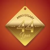 44 Years Anniversary poster — Stock Vector