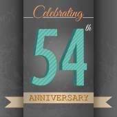 54th Anniversary poster , template design — Stock Vector