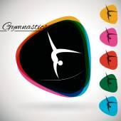 Sports Event icon, symbol - Gymnastics. — Stock Vector