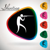 Sports Event icon, symbol - shooting. — Stock Vector