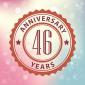 """46 Years Anniversary"" — Vecteur"
