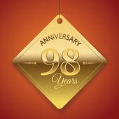 98 Years Anniversary poster — Stock Vector