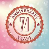 """""""74 Years Anniversary"""" — Stock Vector"""