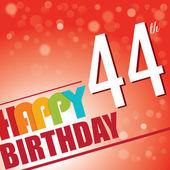 44th Birthday party invite — Stock Vector