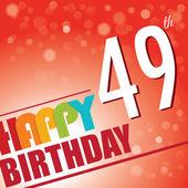 49th Birthday party invite — Stok Vektör