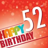 52nd Birthday party invite — Stock Vector