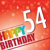 54th Birthday party invite — Stock Vector