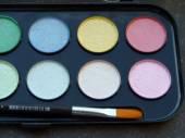 Water color nacreous paints — Stock Photo