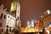 Staromestske Square in the city of Prague for Christmas — Stock Photo