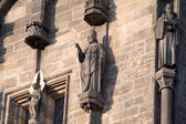 The bishop's sculpture on the Powder tower — Stock Photo