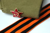 Red Army man's garrison cap — Stock Photo