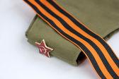 Red Army man's garrison cap — Stock Photo