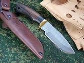 Knife tourist from Damascus  steeld — Stock Photo