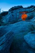 Pantalica at dusk — Stock Photo