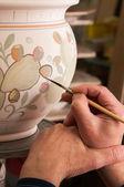 Pottery decorating — Stockfoto