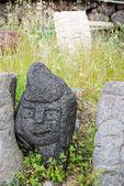 Lava stone sculptures — Stock Photo