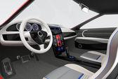 Cruscotto futuristico veicolo elettrico e interior design. immagine di rendering 3d con il percorso di residuo della potatura meccanica. — Foto Stock