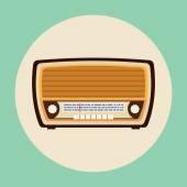 Retro Radio-Vorlage — Stockvektor