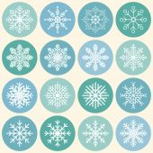 Diversity of snowflakes - vector template flat icons — Stockvector